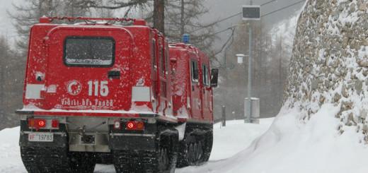 Pompieri sulla Neve